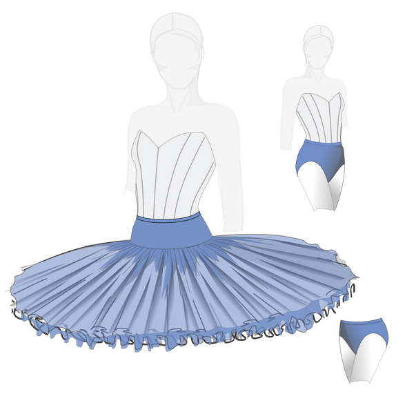 #2312 Stretch Rehearsal Tutu and Briefs