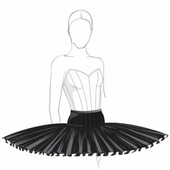 Semi stretch rehearsal tutu skirt pattern by Tutus That Dance