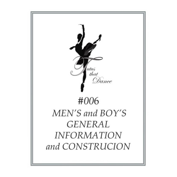 Men's & Boy's Ballet Tunic Pattern Instructions by Tutus That Dance