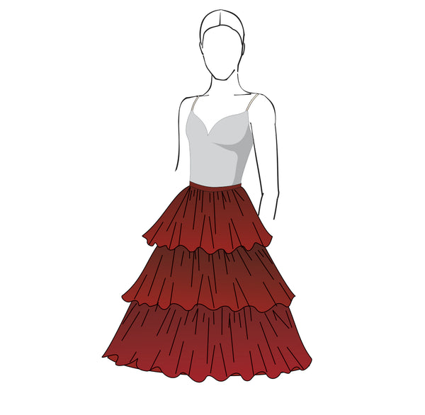 Kitri Skirt pattern, Don Quixote, Spanish, Laurencia, by Tutus That Dance