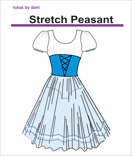 Stretch Peasant Romantic tutu dress, by Tutus By Dani