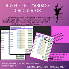 RUFFLE NET YARDAGE CALCULATOR