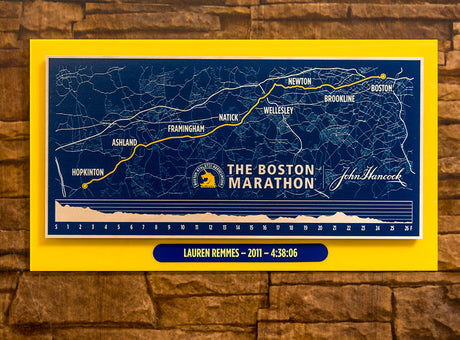 Customized Boston Marathon Map Print