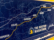 Customized Boston Marathon® Map Print - Open Listing to Enter Custom Info