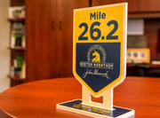 Customized Commemorative Wooden Mile Marker