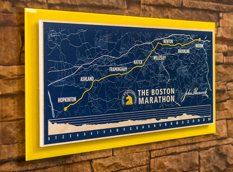 Commemorative Boston Marathon Map Print