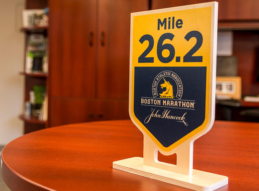 Commemorative Wooden Mile Marker
