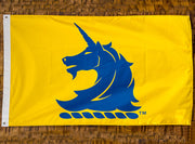 Yellow BAA Unicorn Logo Double Sided Flag