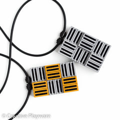 GRATES necklaces made with LEGO bricks