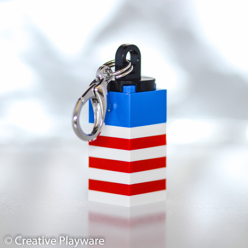 AMERICANA key charm made with LEGO® bricks
