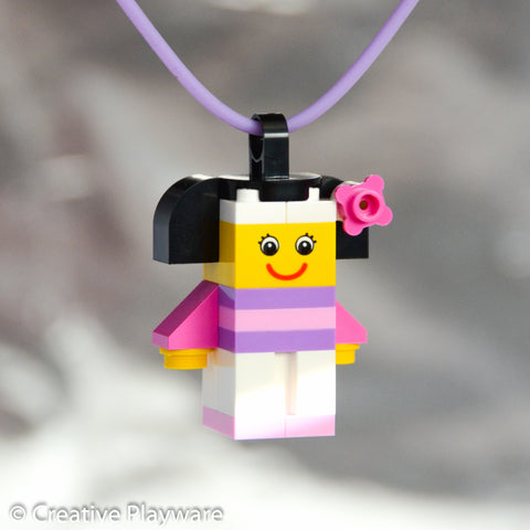 CHERRY BLOSSOM GIRL No. 2 necklace made with LEGO® bricks