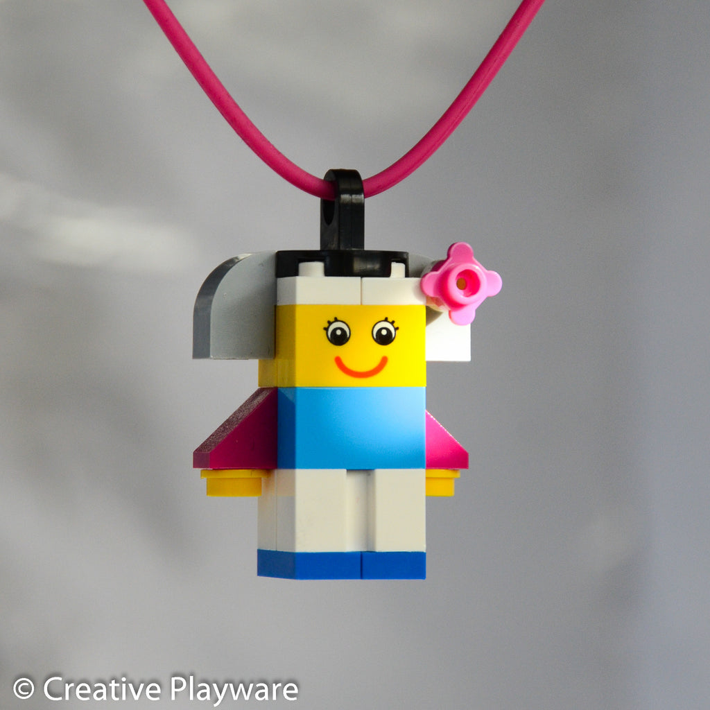 CHERRY BLOSSOM GIRL No. 3 necklace made with LEGO® bricks
