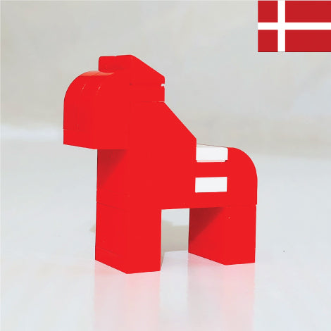 DANISH HORSE made with LEGO bricks.