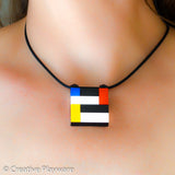 Mondrian - inspired pendant made with LEGO® bricks - DE STILJ No.1