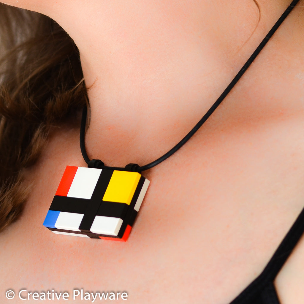 Mondrian - inspired pendant made with LEGO® bricks - DE STILJ No. 4