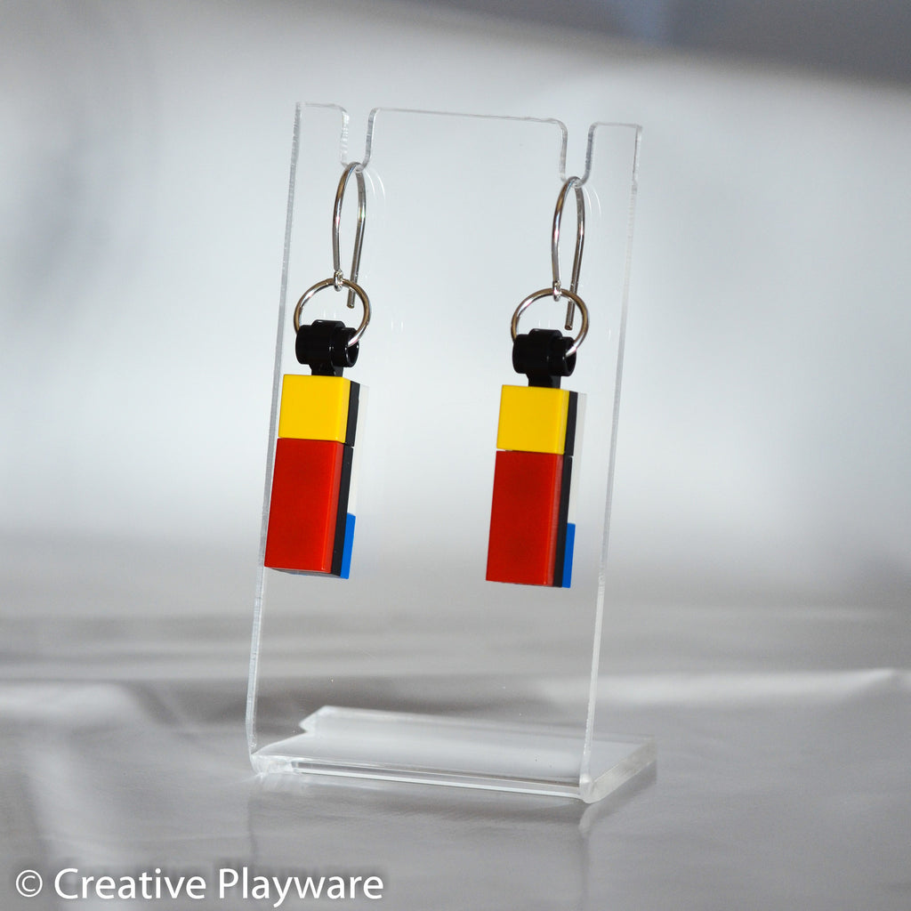 DE STIJL - No. 1 earring. Inspired by Piet Mondrian.