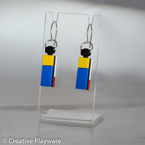 DE STIJL - No. 2 earring. Insprired by Piet Mondrian.