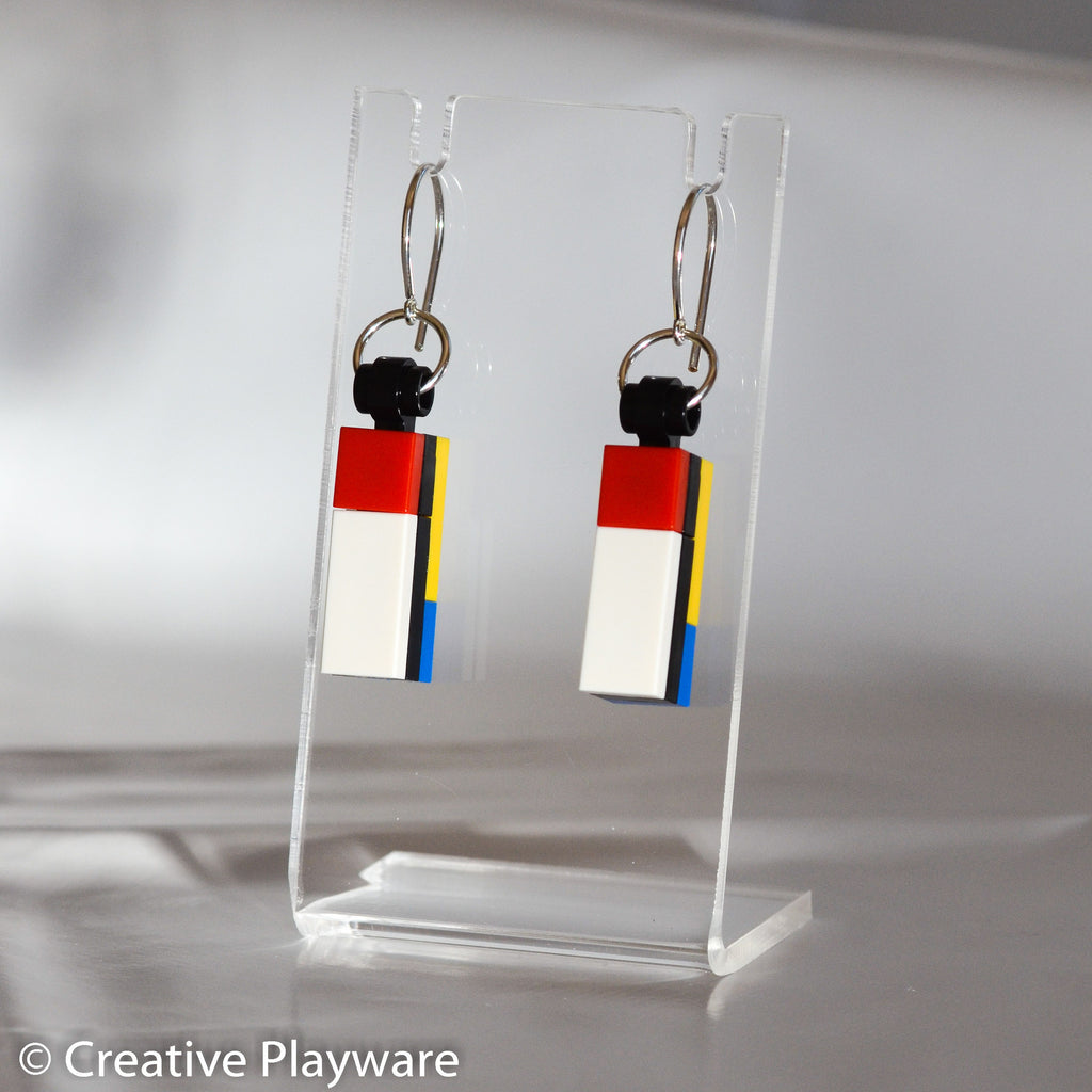 DE STIJL - No. 3 earring. Inspired by Piet Mondrian.