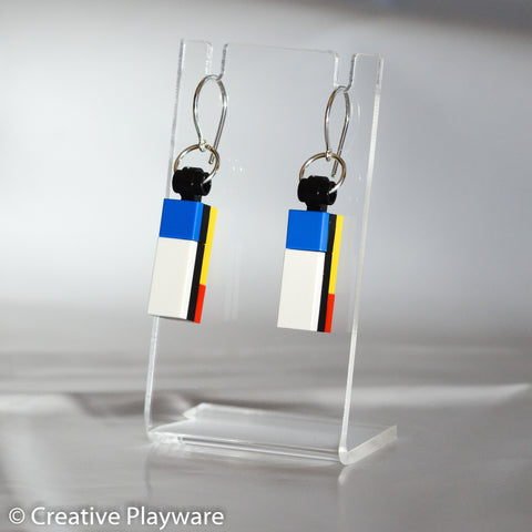 DE STIJL - No. 4 earring. Inspired by Piet Mondrian.