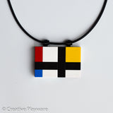 Mondrian necklace made with LEGO® bricks - DE STILJ No. 4