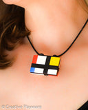 Mondrian pendant made with LEGO® bricks - DE STILJ No. 4