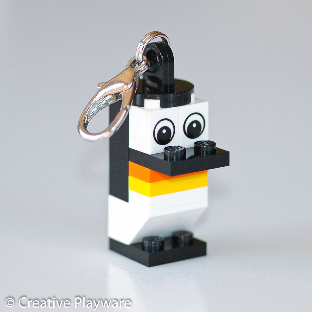 EMPEROR PENGUIN bag charm made with LEGO® bricks - wings tucked (no wings)
