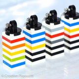 GENE key charms made with LEGO® bricks
