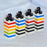 GENE bag charms made with LEGO® bricks