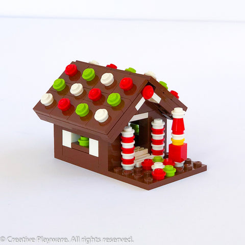GINGERBREAD HOUSE No. 1 - brown roof
