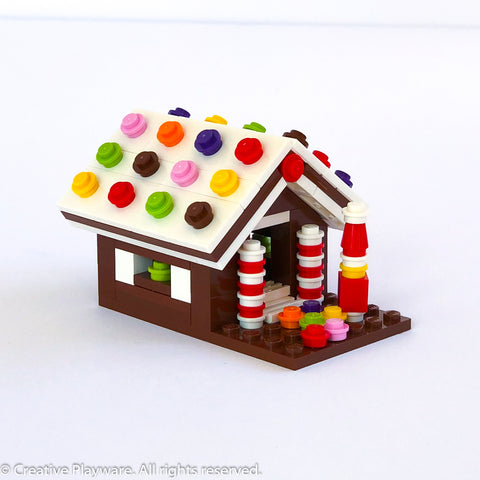 GINGERBREAD HOUSE No. 2 - white roof