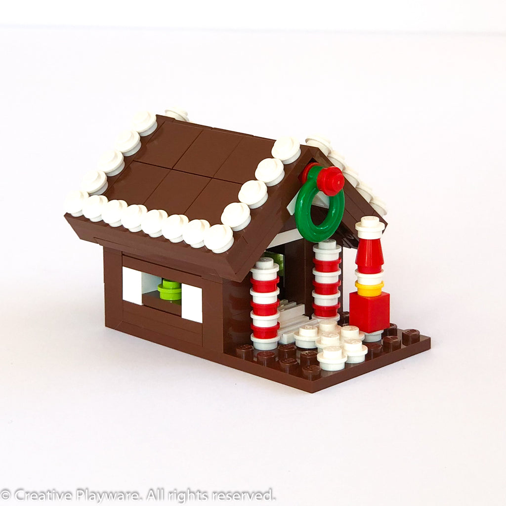 GINGERBREAD HOUSE No. 3 - outlined roof