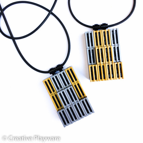 Pendants made with LEGO® bricks inspired by the New York skyline.