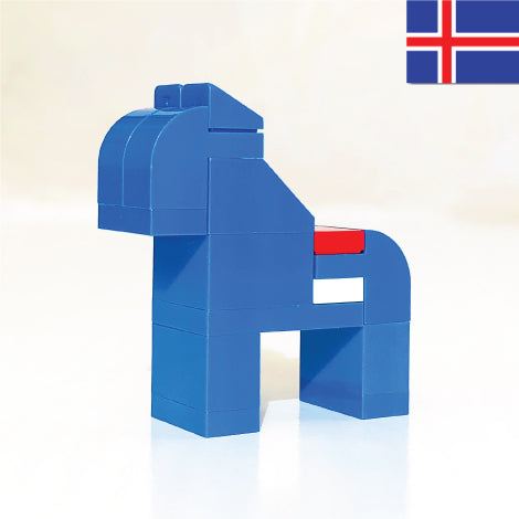 ICELANDIC HORSE made with LEGO bricks.