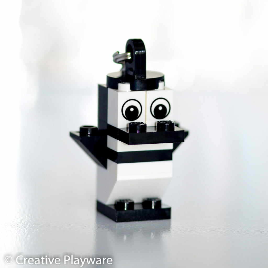 MAGELLANIC PENGUIN bag charm made with LEGO® bricks - wings up