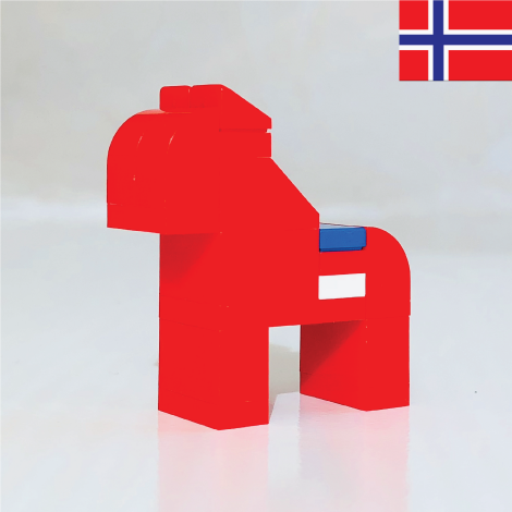 NORWEGIAN HORSE made with LEGO bricks.