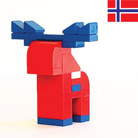 NORWEGIAN MOOSE made with LEGO bricks.