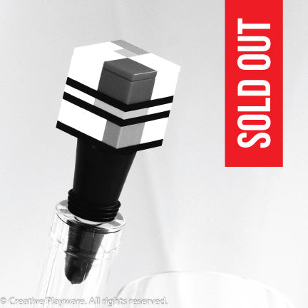 PIET wine stopper. Inspired by Piet Mondrian.