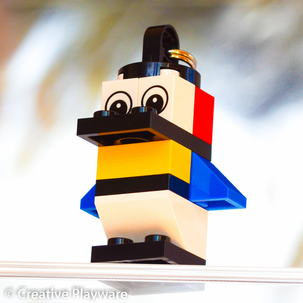 PIET BIRD bag charm. Inspired by Piet Mondrian.