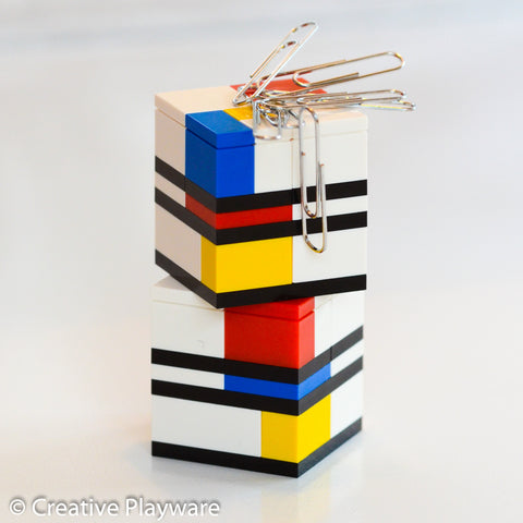 PIET paper clip holders made with LEGO® element