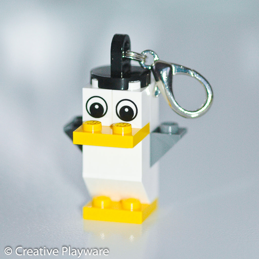 SEAGULL bag charm made with LEGO® bricks - wings up