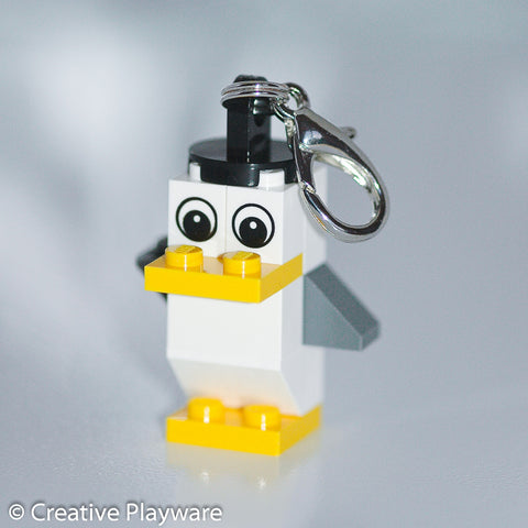 SEAGULL bag charm made with LEGO® bricks - one wing up, one down