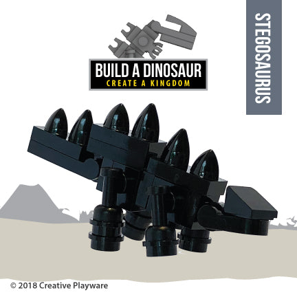 STEGOSAURUS made with LEGO bricks