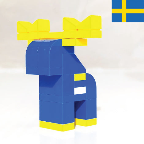SWEDISH MOOSE made with LEGO bricks.