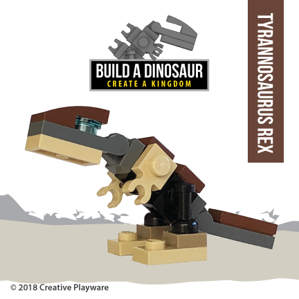 TYRANNOSAURUS REX made with LEGO bricks