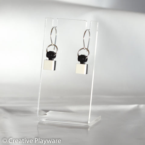 TESSELLATIONS earrings - WHITE