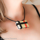TRENCH COAT necklace made with LEGO® bricks - HORIZONAL