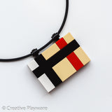 TRENCH COAT pendant made with LEGO® bricks. British high fashion.