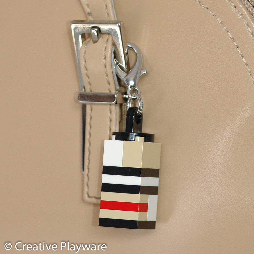 British high-fashion key charm made with LEGO® bricks.
