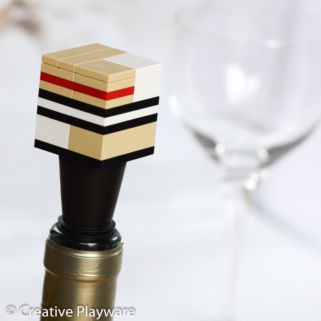 TRENCH COAT wine stopper made with LEGO® bricks