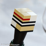 TRENCH COAT wine stopper made with LEGO® elements